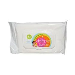 "Dapple, Toy & Surface Wipes, Travel Pack, 20 Wipes, 5.5"" x 8"" Each"