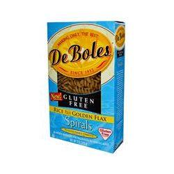 DeBoles, Rice Plus Golden Flax Pasta, Spirals, Gluten Free, 8 oz (226 g)