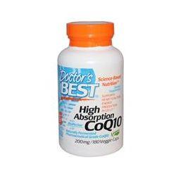 Doctor's Best, High Absorption CoQ10, 200 mg, 180 Veggie Caps