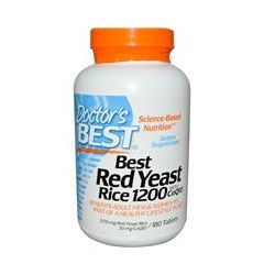 Doctor's Best, Best Red Yeast Rice 1200, with CoQ10, 1200 mg, 180 Tablets