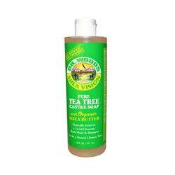 Dr. Woods, Shea Vision, Pure Tea Tree Castile Soap with Organic Shea Butter, 16 fl oz (473 ml)