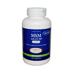 Enzymatic Therapy, MSM with GS-500, 180 Capsules
