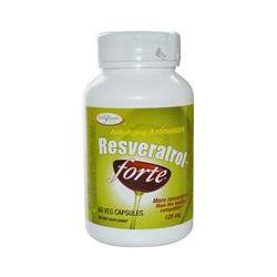 Enzymatic Therapy, Resveratrol~Forte, 125 mg, 60 Veggie Caps