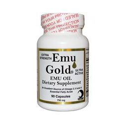 Emu Gold, Emu Gold Emu Oil, Extra Strength, 750 mg, 90 Capsules