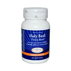 Enzymatic Therapy, Holy Basil, Trinity Blend, Stress/Anxiety, 60 Softgels
