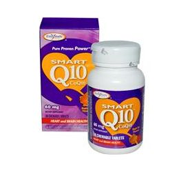 Enzymatic Therapy, Smart Q10, CoQ10, Maple Nut Flavored, 60 mg, 30 Chewable Tablets