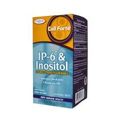 Enzymatic Therapy, Cell Forté, IP-6 & Inositol, Double-Strength Chewable, Citrus Flavored, 60 Chewable Tablets
