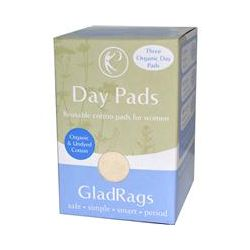 GladRags, Day Pads, Reusable Cotton Pads for Women, 3 Pads