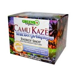 Greens Plus, Camu Kaze, Energy Shot, Wild Berry Adaptogen, 9 Bottles, 4 fl oz (120 ml) Each