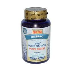 Health From The Sun, PFO Pure Fish Oil, Ultra Potent, Omega-3, 60 Softgels