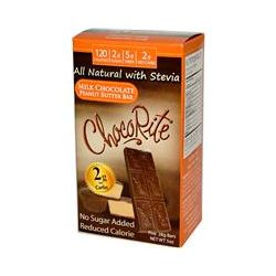 HealthSmart Foods, Inc., ChocoRite, Milk Chocolate Peanut Butter Bar, 5 Bars (28 g) Each