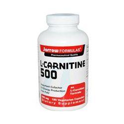 Jarrow Formulas, L-Carnitine 500, 500 mg, 180 Veggie Caps