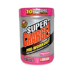 Labrada Nutrition, Super Charge! Xtreme 4.0, Pre-Workout, Strawberry Dreamsicle, 1.76 lbs (800 g)