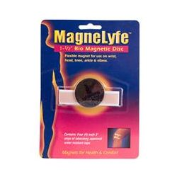 "Magnelyfe, 1-1/2 "" Bio Magnetic Disc, 1 Magnet, 4, 3"" Tape Strips"
