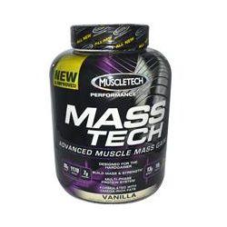 Muscletech, Mass-Tech, Advanced Muscle Mass Gainer, Vanilla, 7 lbs (3.2 kg)