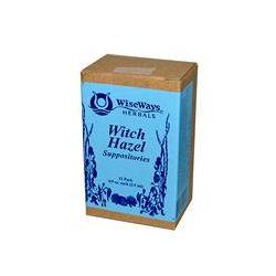 WiseWays Herbals, LLC, Witch Hazel Suppositories, 12 Pack, 4/5 oz (2.5 ml) Each