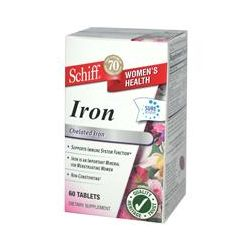 Schiff, Iron, Chelated Iron, 60 Tablets