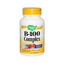 Nature's Way, B-100 Complex, With B2 Coenzyme, 100 Capsules