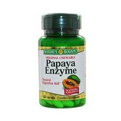 Nature's Bounty, Papaya Enzyme, Natural Digestive Aid, 100 Tablets