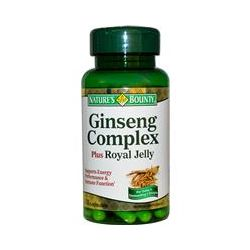 Nature's Bounty, Ginseng Complex Plus Royal Jelly, 75 Capsules