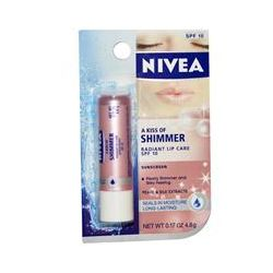 Nivea, A Kiss of Shimmer, Radiant Lip Care, SPF 10, 0.17 oz (4.8 g)