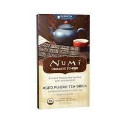 Numi Tea, Organic Pu-erh Tea, Higher Caffeine, Aged Pu-erh Tea Brick, 2.2 oz (63 g)