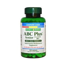 Nature's Bounty, ABC Plus, Senior for Adults 50+, Iron Free Formula, 100 Tablets