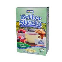 Now Foods, BetterStevia Certified Organic Zero Calorie Sweetener, 75 Packets, 2.65 oz (75 g)