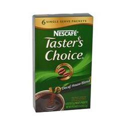 Nescafé, Taster's Choice, Instant Coffee, Decaf House Blend, 6 Packets, 0.07 oz (2 g) Each