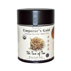"The Tao of Tea, Organic, ""Yunnan Jin Cha"" Black Tea, Emperor's Gold, 3.5 oz (100 g)"
