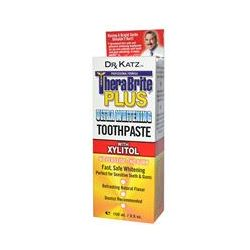 TheraBreath, TheraBrite Plus, Ultra Whitening Toothpaste with Xylitol, Cinnamon Flavor, 3.5 oz (100 ml)