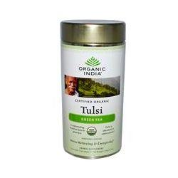 Organic India, Tulsi Tea, Loose Leaf Blend, Green Tea, 3.5 oz (100 g)