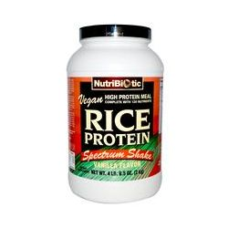 NutriBiotic, Vegan Rice Protein Spectrum Shake, Vanilla Flavor, 4 lb 6.5 oz (2 kg)