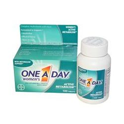 One-A-Day, Women's Active Metabolism, Multivitamin/Multimineral, 100 Tablets