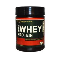 Optimum Nutrition, 100% Whey Protein, Powder, Double Rich Chocolate, 1 lb (450 g)