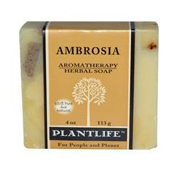Plantlife, Aromatherapy Herbal Soap, Ambrosia, 4 oz (113 g)