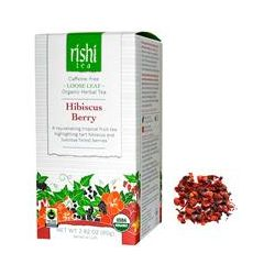Rishi Tea, Organic Herbal Tea, Loose Leaf, Caffeine Free, Hibiscus Berry, 2.82 oz (80 g)