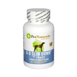 Pet Naturals of Vermont, K-9 Slim Down, with Phase 2 Pet, Chicken Liver Flavored, 60 Chewable Tablets