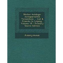 Bucher-Kataloge - Anonymous - Bok (9781294462859)