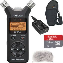 Tascam  DR-07mkII Portable Recorder Value Pack  B&H Photo Video