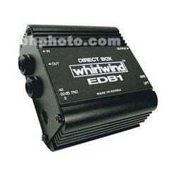 Whirlwind EDB1 - Single Channel Economy Direct Box EDB1 B&H