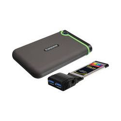 Transcend StoreJet 25D3 Portable Hard Drive (500GB, Green) B&H