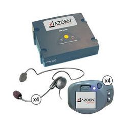 Azden DW-1000 4 Channel Wireless Headset System DW-1000 B&H