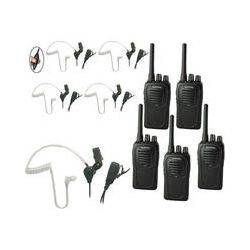 Eartec 5-User SC-1000 Two-Way Radio System with SST SSTSC5000LP