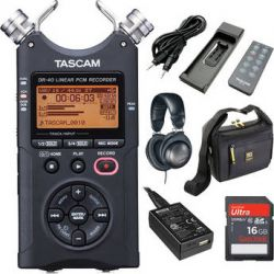Tascam  DR-40 Portable Recorder Value Pack  B&H Photo Video