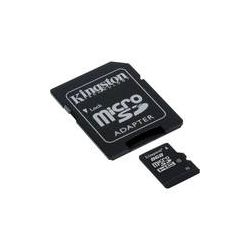 Kingston 8GB microSDHC Memory Card Class 4 With SD SDC4/8GB B&H