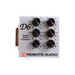 Remote Audio  D6 Analog Output Attenuator D6 B&H Photo Video