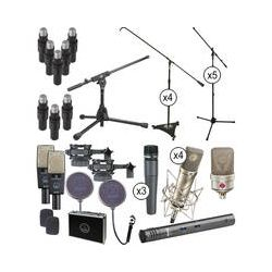 AKG Drum Microphone Studio Package and British Rock Setup Kit