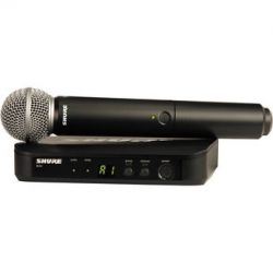 Shure BLX24 Vocal Wireless System With SM58 Mic BLX24/SM58=-H8