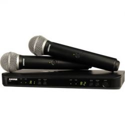 Shure BLX288 Dual-Channel Handheld Wireless BLX288/PG58=-H8 B&H